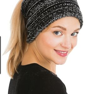 Chic rutt TRENDING knit  hats for ponytails